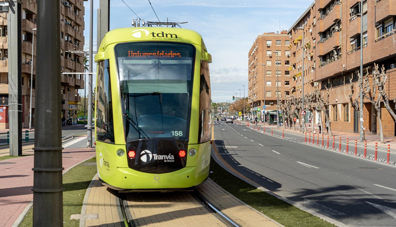 Tranvía de Murcia desarrolla un plan específico para garantizar la seguridad del usuario