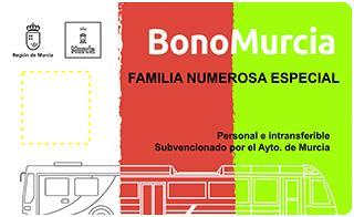 Bono Murcia Familia Numerosa Especial