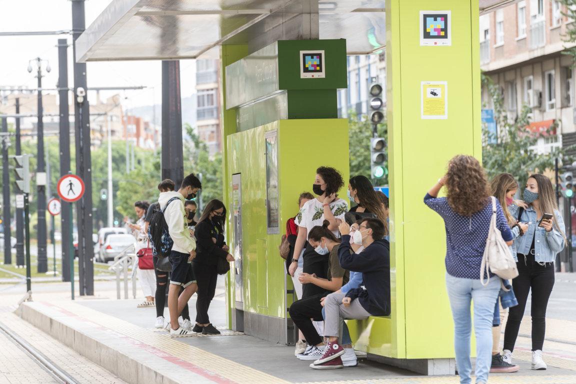 Tranvía de Murcia finalizará el servicio a las 23:00 horas los viernes, sábados y domingos