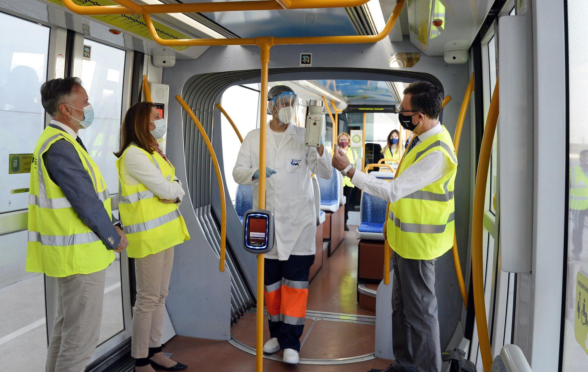 Los controles periódicos para la detección de trazas de Covid-19 confirman la seguridad del tranvía