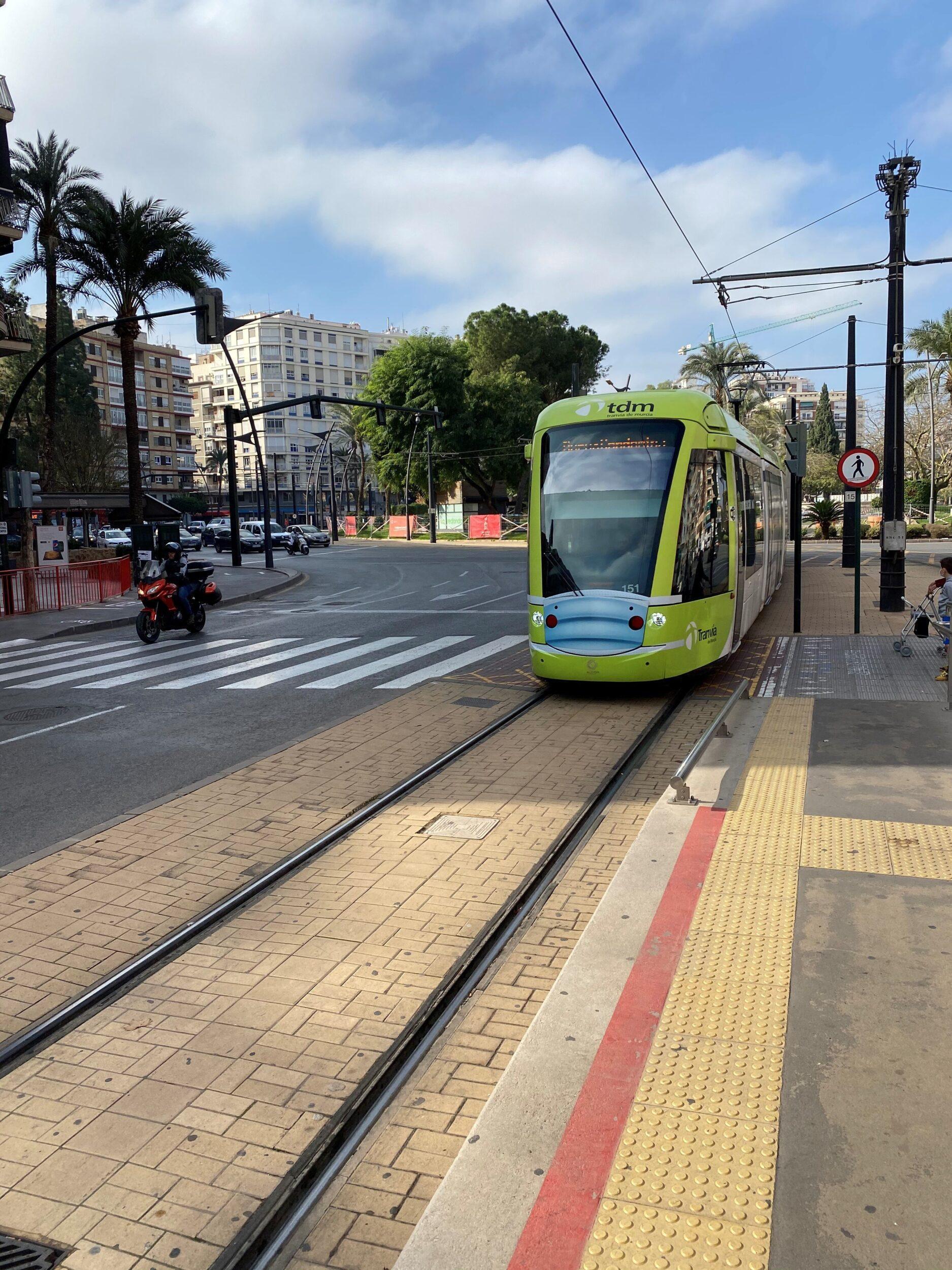 Tranvía de Murcia apuesta por la accesibilidad