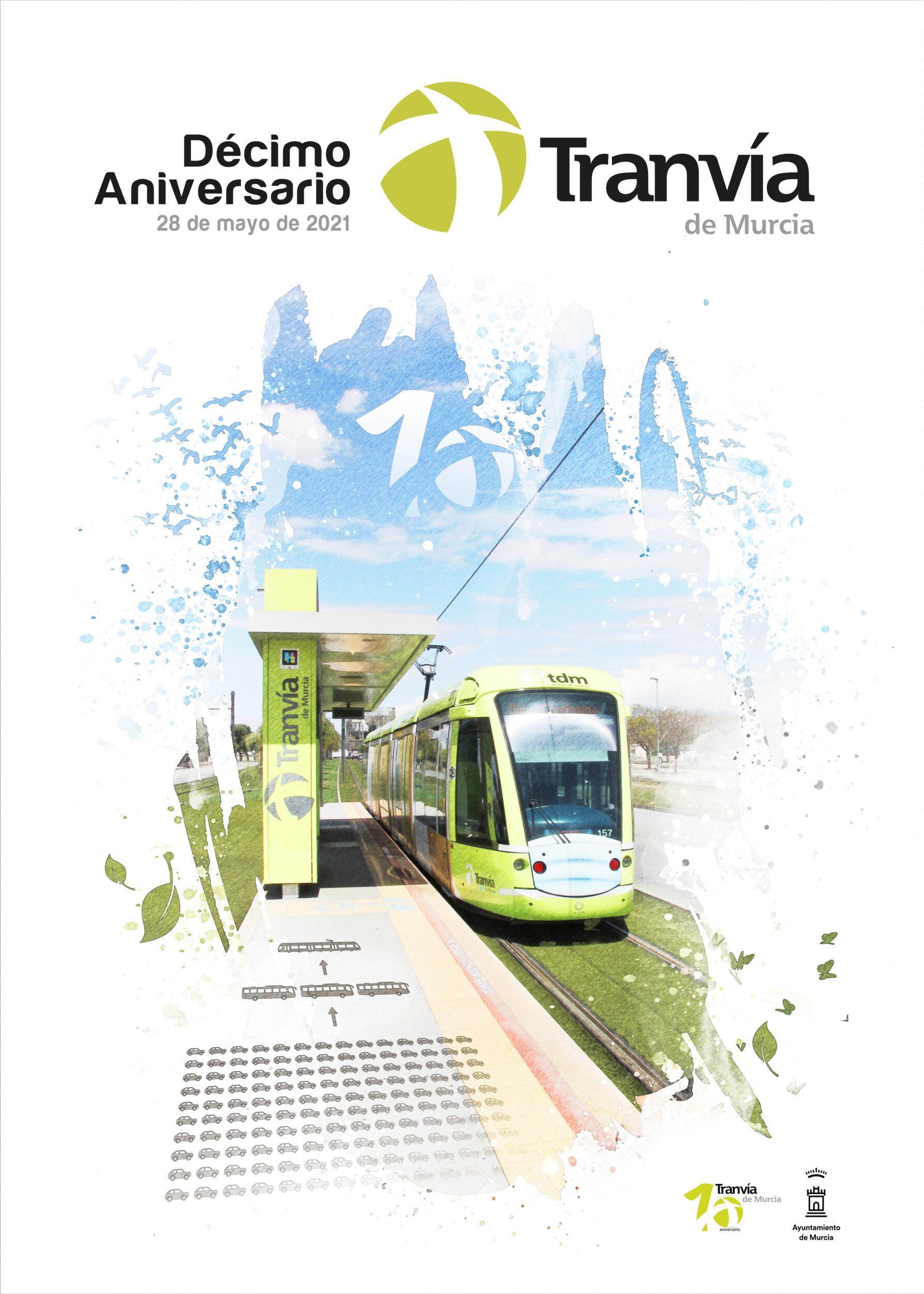 Tranvía de Murcia comunica los ganadores del Concurso de Carteles X Aniversario